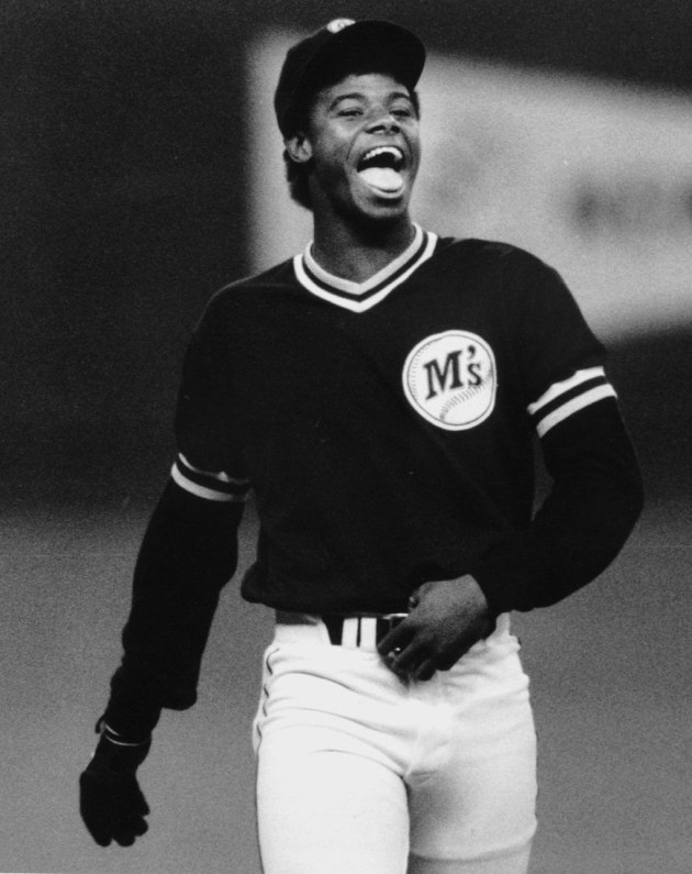 "Ken Griffey Jr. as a rookie in 1987. : "" I'M HAPPY BEING ME AND IF I'M HAPPY EVERYTHING SHOULD GO WELL,"" SAYS MARINER ROOKIE KEN GRIFFEY JR. 8/4/87 (Harley Soltes / The Seattle Times)"